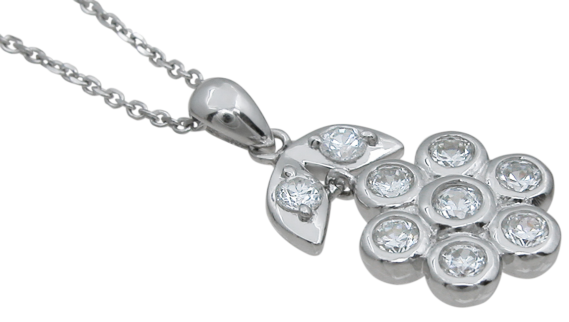 wholesale sterling silver flower pendant
