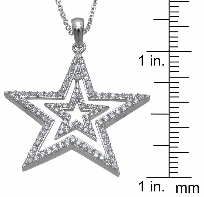 wholesale sterling silver star pendant