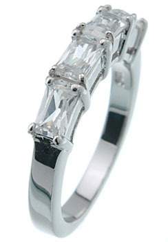 925 Sterling Silver Platinum Finish Fashion Band