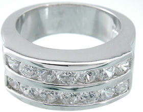 925 Sterling Silver Rhodium Finish Ring
