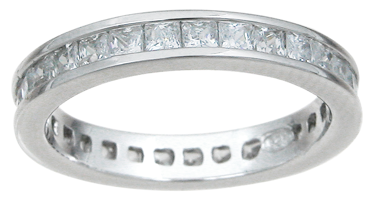 925 Sterling Silver Eternity Ring wholesale cz jewelry
