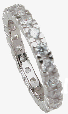 925 Sterling Silver Eternity Wedding Band