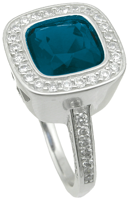 wholesale 925 sterling silver simulated sapphire ring