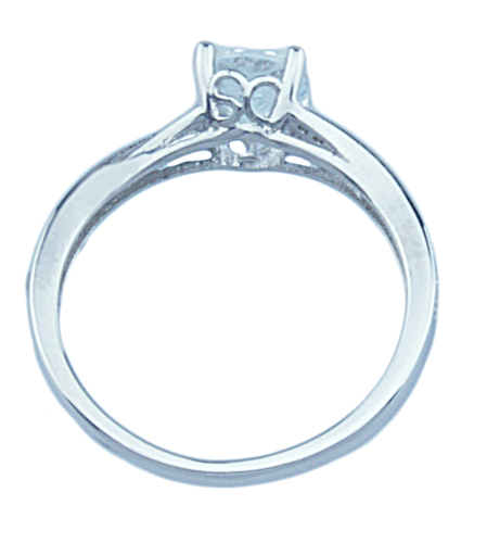 3/4ct brilliant 925 silver Sterling Couture engagement ring
