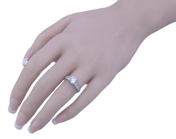 1.25ct brilliant 925 silver Sterling Couture engagement ring