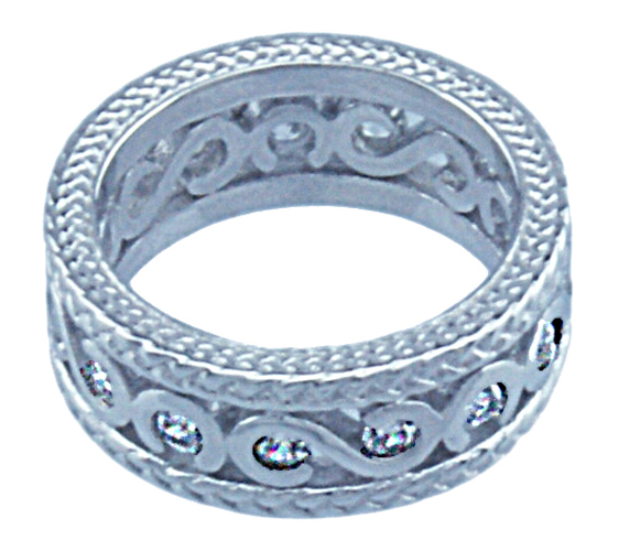 Sterling Couture 925 silver SC band ring