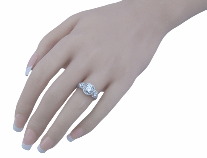 1.25ct double prong 925 silver Sterling Couture engagement ring