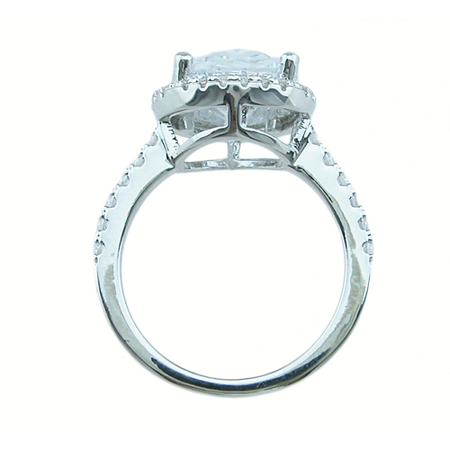 925 Sterling silver antique style wedding ring