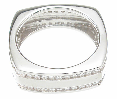 925 Sterling Silver Mens Wedding Band