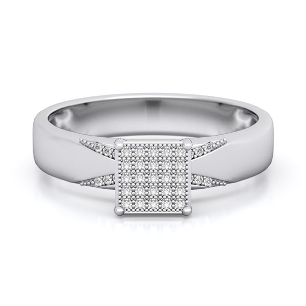 925 Sterling silver micro pave wedding set