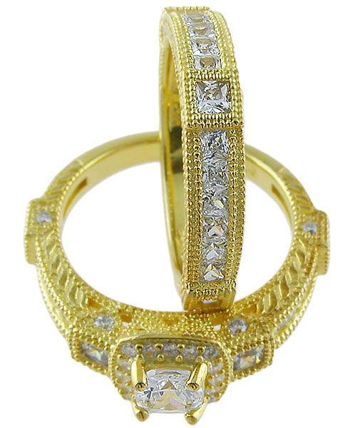 14kt Gold Plated 925 Sterling Silver Ring