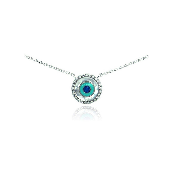 Offers wholesale sterling jewelry at discount prices wholesale sterling silver cz evil eye pendant necklace aloadofball Gallery