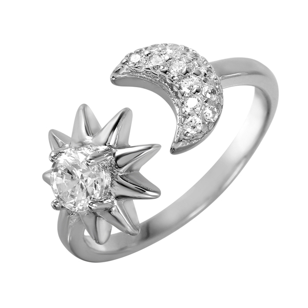 Offers wholesale 925 sterling silver sun & moon rings at